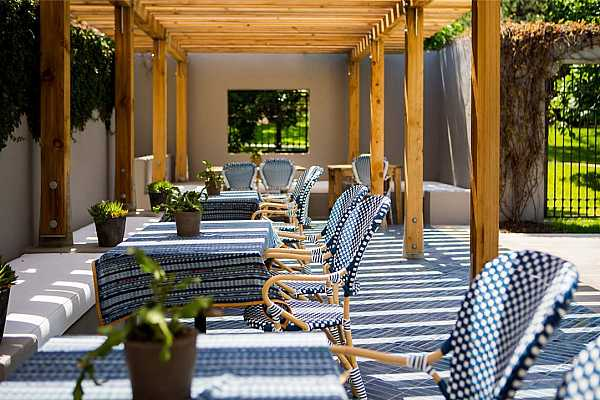 Photo #36 Courtyard trellis around the private pool with full signing privileges at the lounge, courtyard and pools of both Hotel Magdalena and Hotel Saint Cecilia on either side