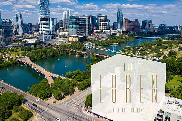 Photo #19 Aerial view of the new Loren location! As you can see easy access to Lady Bird Lake hike and bike trail as well as a short walk to everything in Downtown Austin.