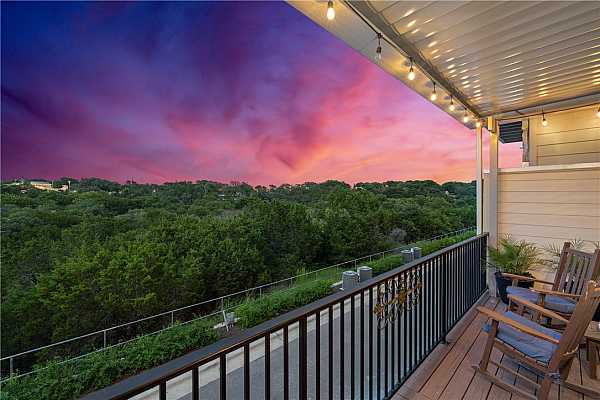 Photo #2 Enjoy the Equinox covered patio views of the North San Gabriel River hike and bike trails.