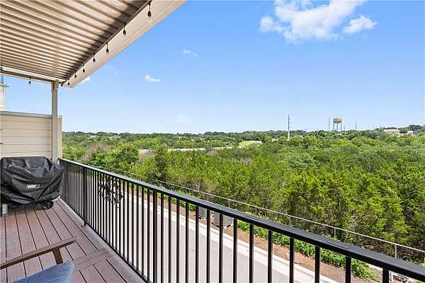 Photo #34 Enjoy the Equinox covered patio views of the North San Gabriel River hike and bike trails.
