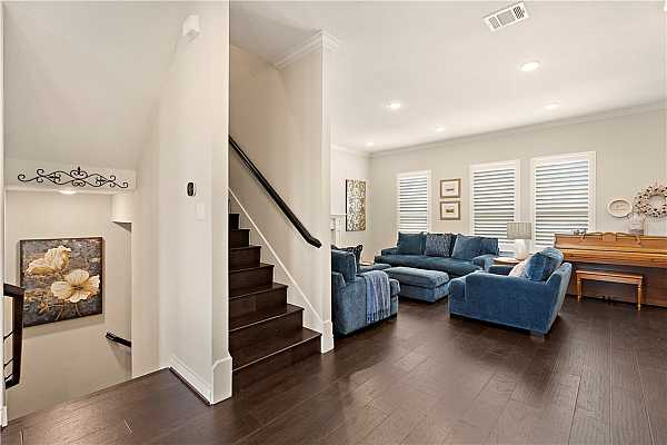 Photo #9 Stairwell for all 3 floors; adjacent private elevator for convenient added access.