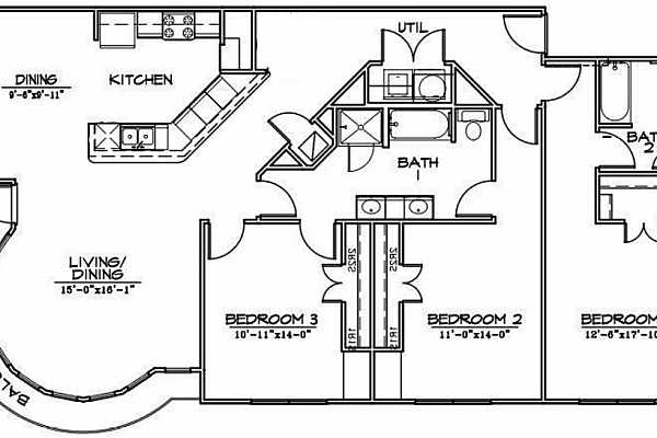 Photo #24 Floor plan approximation (not drawn exactly to scale; this approximation is based on taking the #606 floor plan and removing the loft)