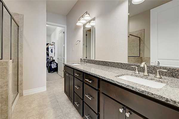 Photo #18 Primary bath with dual sinks, tub, shower and large walk in closet