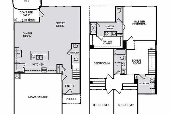 Photo #5 Cadence E floorplan~ Structural Options added to 2805 Salvidar Bend include extended covered patio with gas hook-up