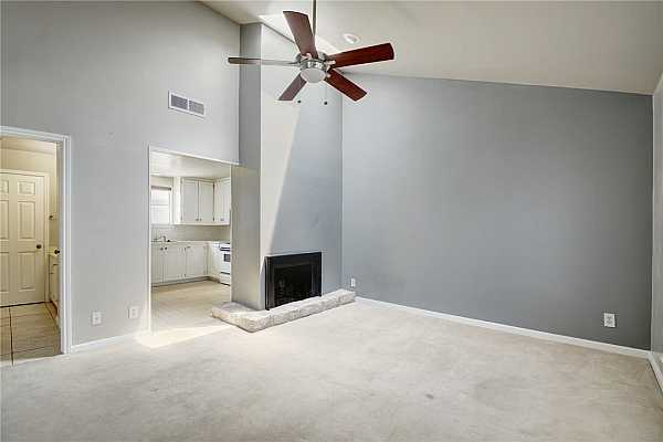 Photo #2 The vaulted ceiling and skylight give this unit a light and open feeling.