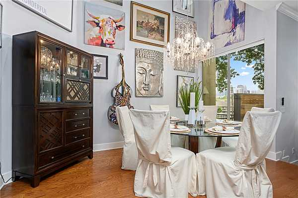 Photo #17 Lovely dining room with a view!
