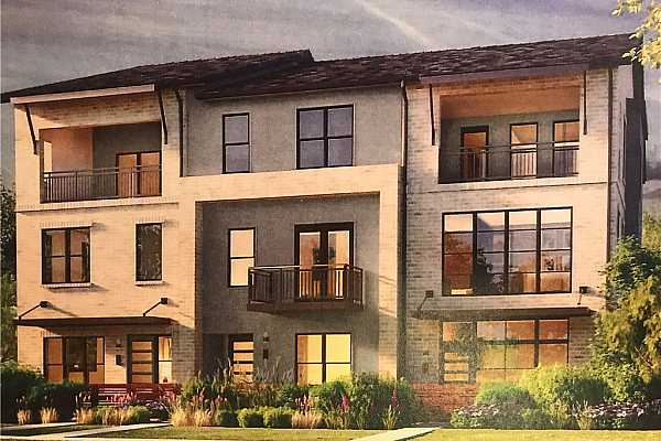 Photo #1 Rendering of front elevation. Home is on left and is the end unit.