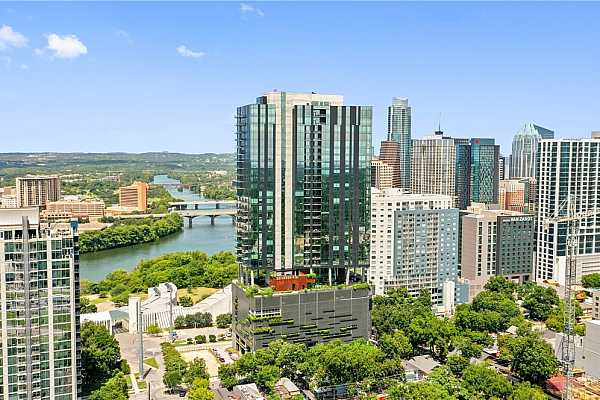 Photo #3 70 Rainey is a distinctive downtown condo building designed by Austin based Page Architects
