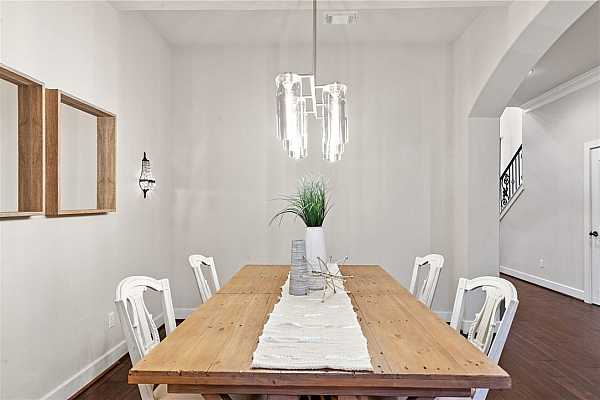 Photo #6 Formal Dining with upgraded light fixture