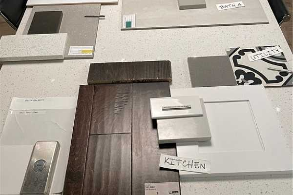 Photo #4 Color selections for actual home, under construction.
