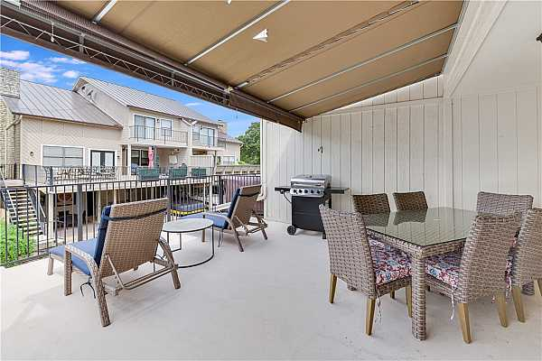 Photo #24 Large Open Patio with Awning Cover and Great Views!