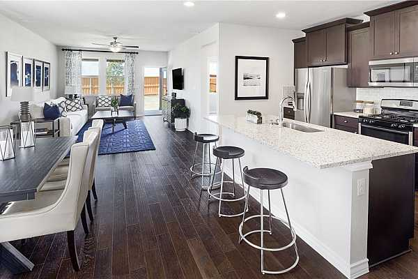 Photo #4 * REPRESENTATIVE PHOTO. Imagine entertaining all of your friends and family in this open kitchen, dining and family area!