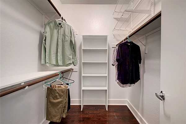 Photo #25 Look at all of the space you will have for clothing and accessories in the walk-in closet
