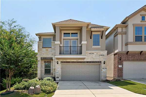 """Photo #1 Welcome home! Gorgeous stand alone home  on corner lot with Greenbelt on 2 sides!!! Walking distance from the """"New Domain"""", fully gated community! True lock and leave home!"""